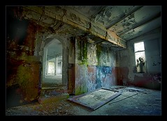 mysteries and mayhem (biancavanderwerf) Tags: old light color abandoned dutch mystery dark scary decay explore urbanexploration figure bianca frontpage mayhem urbex schim