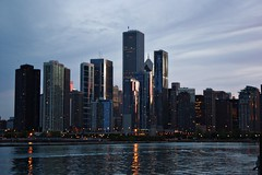 Chicago (aebphoto) Tags: city sunset chicago skyline architecture canon buildings twilight lakemichigan citylights navypier chicagoil chicagobynight partialskyline rebelxsi