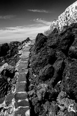 A path to nowhere (MauScaMe) Tags: path whitewall lavarocks blackandwhite