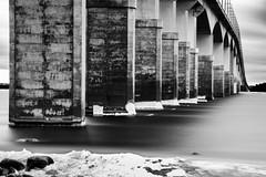 Bridge (Cajofavi) Tags: fs170212 filter fotosondag ndfilter nd27400x nd400 nd ölandsbron kalmar sweden longexposure bw blackandwhite kalmarsund bridge bro