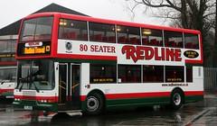 Redline Travel (Nuttall), Penwortham, Preston YIL 6983 awaiting its afternoon student duty. (Gobbiner) Tags: pyoneer roadcar 687 redlinetravel eastlancs r687mfe penwortham yil6983 preston stagecoach lincolnshire olympian volvo