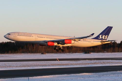 SAS Scandinavian Airlines Airbus A340-313 OY-KBA 170225 ARN