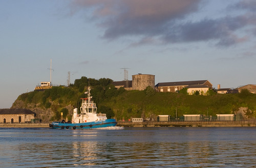 Gerry heading upriver in the evening
