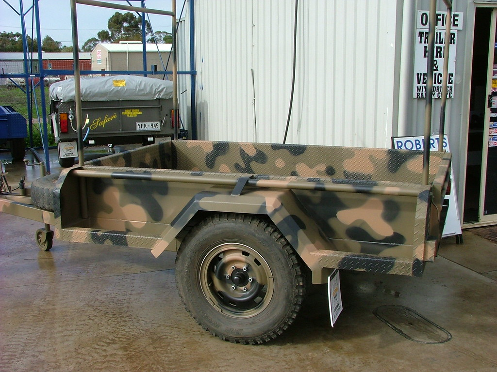 Standard Army Trailer 6x4 by Built Tough  showing H-Bars
