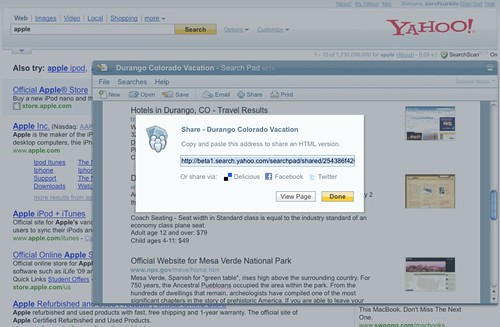 Yahoo! Search Pad - Share Document