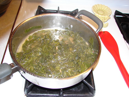 cooking the collard greens