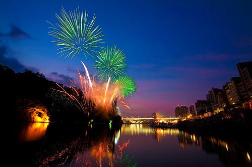 Bitan Summer Festival Fireworks 碧潭水岸夏日節煙火
