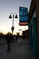 The Blue Room (dogwelder) Tags: california bar strangers july neonsign burbank zurbulon6 cocktails 2009 theblueroom skateboarders sanfernandoroad zurbulon