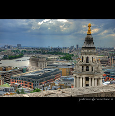 View of London from Saint Paul's Cathedral Stone Gallery (j glenn montano 3) Tags: england london saint st stone river gallery cathedral glenn pauls british hdr montano themes 5photosaday justiniano aplusphoto grouptripod