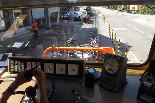 Zahnradbahn mit Radcontainer