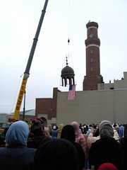 Minaret Capping Ceremony at the Islamic Society of Boston Cultural Center (ISBCC) in Roxbury (The Pluralism Project) Tags: islam anewera worldreligionsinboston