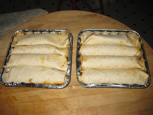 Enchiladas before sauce