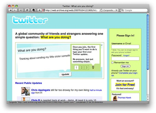 Twitter 2007