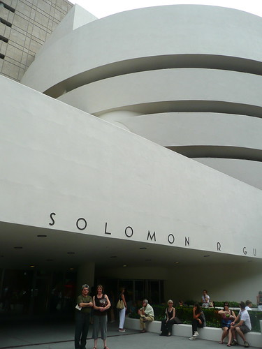 Outside the Guggenheim.