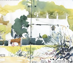 Whalley: The Marjorie (skyeshell) Tags: colour building art painting landscape sketch drawing lancashire watercolour sketches pleinair brushwork locationdrawing pleinairdrawing urbansketches sketchbookjournal