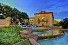 Sunset on Littlefield Fountain