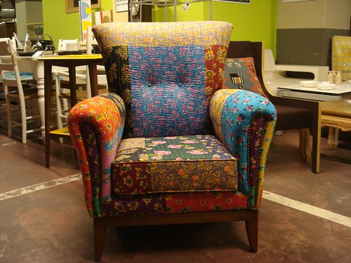 new patchwork armchair of afra