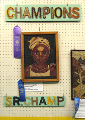 Blue ribbon crop art, MN State Fair