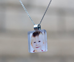 side/front view of the charm i made (lovemymedic (lisa)) Tags: silver necklace charm crystalclearglasstile