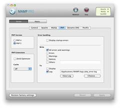 MAMP PRO - Server - PHP