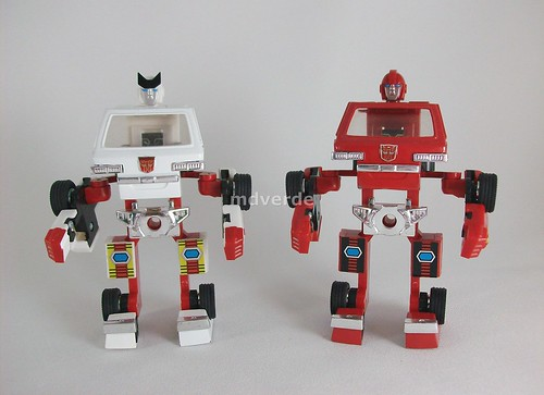 Transformers Cabezas para Ironhide y Ratchet G1