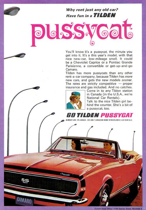 Vintage Ad #917: Go Tilden Pussycat