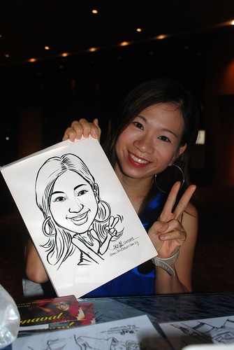 Caricature live sketching for The Law Society of Singapore - 8