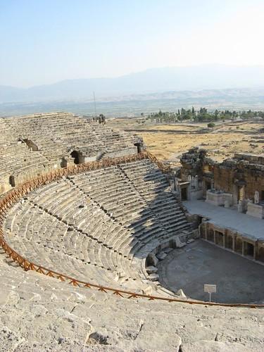 Ruinas de Frígia Hierápolis, Pamukkale, Turquia