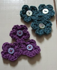 2 little flower corsages