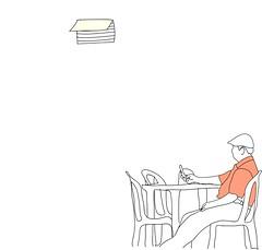 hugo (MrsDani) Tags: man waiting mr drawing dani sentado mister draw mrs esperando espera waits hombre esperanzas señor sitted
