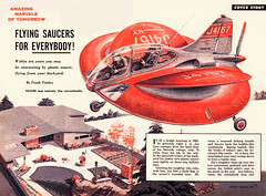 1954--Flying-saucers-for-Everybody (x-ray delta one) Tags: modern vintage magazine ads advertising suburban ad suburbia retro smoking nostalgia 1940s 1950s americana 1960s atomic populuxe housewife coldwar popularscience popularmechanics magazineillustration mechanix atomicpower franktinsley
