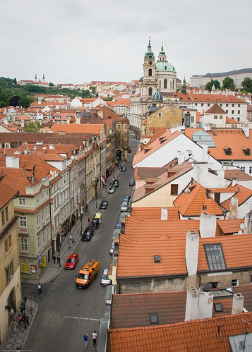 Malá Strana from the bridge tower by you.
