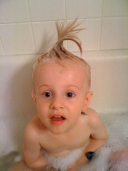 Bathtime Hairdo