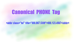 Canonical Phone Tag for SEO and Phone Call Tracking Numbers
