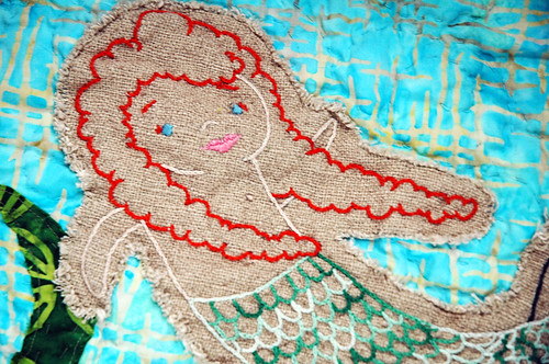 mermaid quilt close