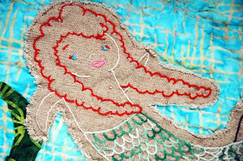 mermaid quilt close