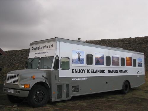 Óbyggðaferðarútan  ( alvöru bíll )
