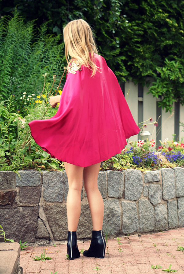 A Perfect Guide pink cape 3
