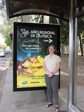 Astrofísica Yolanda Gómez, Año Intl. Física, 2005