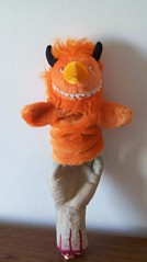HELP! (helixdmonster) Tags: orange monster puppets helix handpuppets severedhand creepyhands monsterhandpuppets helixdmonster
