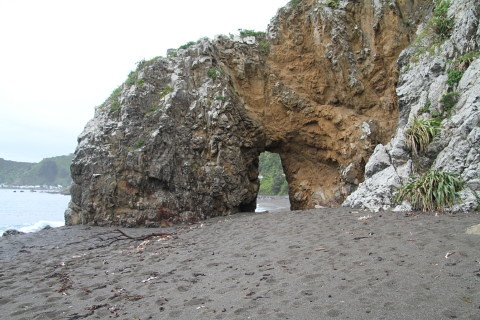 Hole in rock