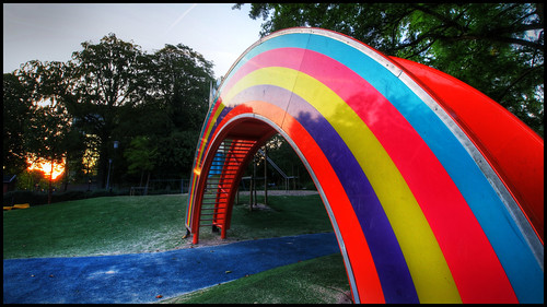 Good Morning Malmö - Rainbow slide - Regnbågsrutschkana by anders.rorgren