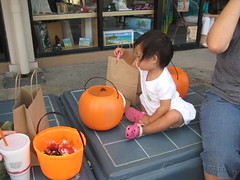Aki inspecting her loot