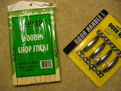 Chopsticks and Door Handles from the $ Store
