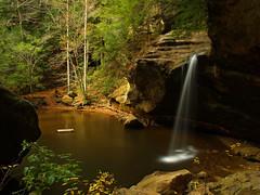 Just Beyond The Head Of The Sphinx (Bill Fultz) Tags: ohio waterfall lowerfalls oldmanscave hockinghillsstatepark ohiostateparks