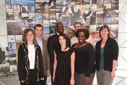 From left to right: Felice Stadler, Ryan Salmon, Marc Littlejohn, Dara Hourdajian, Zach Baker, Nia Robinson, Kassie Rohrbach