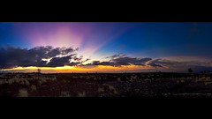 Hualalai Sunset... Wanting Memories. (Rex Maximilian) Tags: ocean sunset sky panorama cloud sun hawaii bigisland maunakea hualalai highaltitude 617 bigisle lavabed highelevation puuwaawaa 17x6