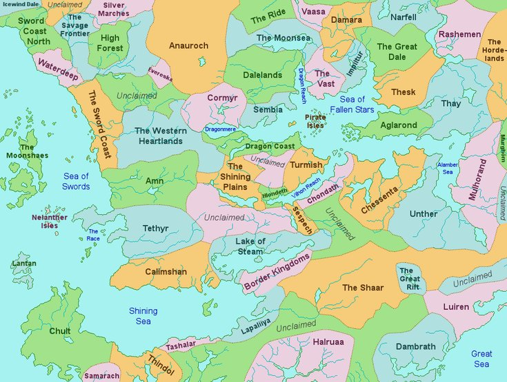 Political Map of Faerun