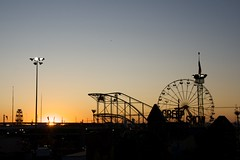 Sunset on the State Fair (Daniel Greene) Tags: carnival sunset silhouette dusk weekend statefair ferriswheel rides closingday lagrande