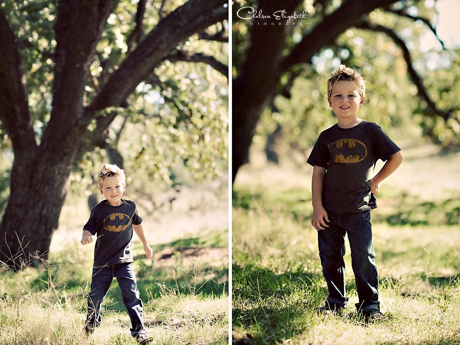 Superman running little boy portrait picture